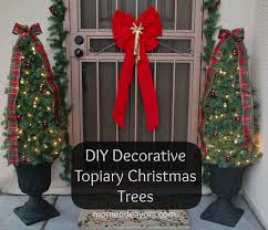 christmas topiary diy decorative topiary christmas trees jpg