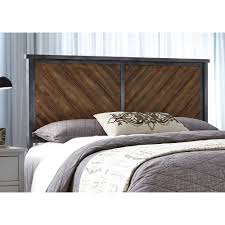 Bedroom Furniture Wood And Metal Braden King Metal Headboard Panel With Reclaimed Wood Design By