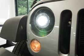 jeep headlights at night morimoto super7 bi led headlights 7