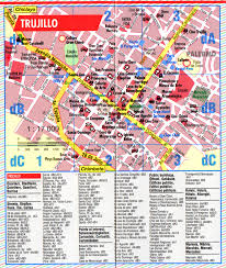 Tourist Map Of San Francisco by Trujillo Tourist Map Trujillo Peru U2022 Mappery