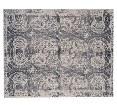 Pottery Barn Rugs 9x12 Bosworth Printed Wool Rug Gray Pottery Barn