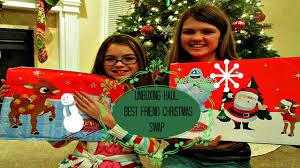 unboxing haul best friend christmas swap youtube