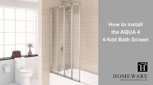 how to install the aqua 4 4 fold bath screen shower enclosure how to install the aqua 4 4 fold bath screen shower enclosure