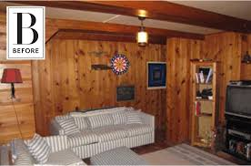 wood panel basement diy makeover apartment therapy