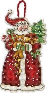 dimensions santa ornament cross stitch kit 70 08895