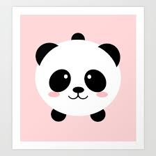 lovely kawai panda bear art print by eugeniaart society6