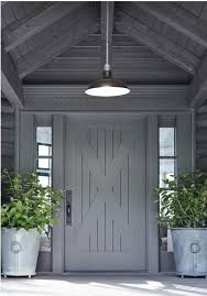 modern farmhouse entry way and porch moldings and doors