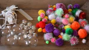 diy fancy pom pom ornaments fancy ashley