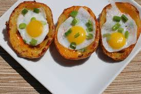 peppery potato skins with quail eggs recipe the delectable feast