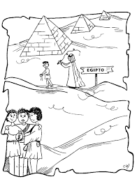 coloring pages joseph in egypt