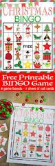 christmas bingo printable game our thrifty ideas