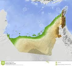 United Arab Emirates Map Arab Emirates Shaded Relief Map Royalty Free Stock Images Image