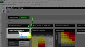 risk template in excel training u2022 risk matrix settings tab