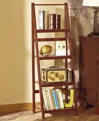 Walnut Ladder Bookcase Walnut 4trier Wooden Ladder Shelf Bookcase Bathroom Kitchen Living