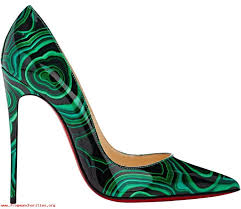 women christian louboutin leather daffodile stiletto black pumps