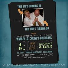 surprise 60th birthday joint milestone surprise birthday party invite double party
