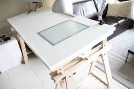 Ikea Sawhorse Desk The Ikeahacked Adjustable Angle Drawing Table Desks Ikea Hack