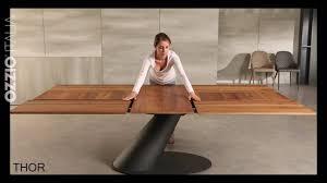 extendable design table thor by ozzio italia space saving