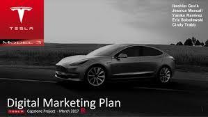 tesla model 3 digital marketing plan