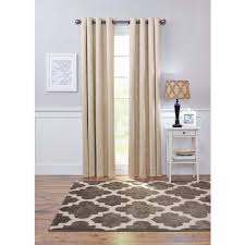 Brown And Ivory Curtains Better Homes And Gardens Embossed Damask Blackout Grommet Window