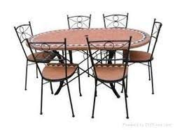 Rod Iron Dining Room Set Wrought Iron Dining Table Retro Yet Modern Blogbeen
