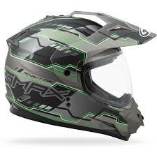 gmax motocross helmets gmax gm11 dual sport adventure helmet flat black hi vis green