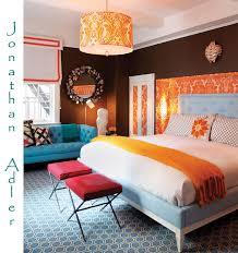 Orange And Blue Bedroom | jonathan adler lovely bedrooms pinterest jonathan adler