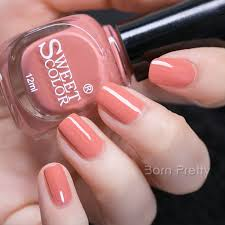 5 49 1 bottle 12ml sweet color nail polish coral eco friendly