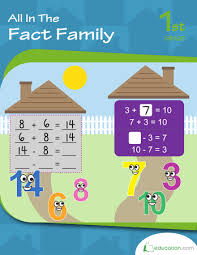 number fact families math fact relationship between addition subtraction worksheet