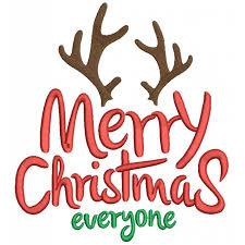 christmas everyone deer antlers filled machine embroidery