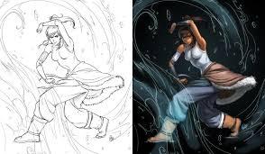 korra sketch by roggles on deviantart
