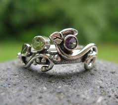 sterling silver mothers rings unique mothers ring sterling silver and 2 birthstones