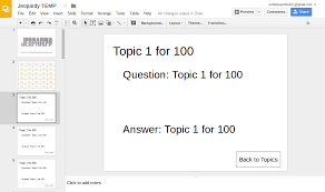 learning blog make a jeopardy template with google slides