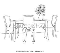 Part Of Flowers - table chairs on table vase flowers stock vector 606595868