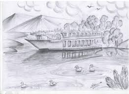 nice drawing with pencil about nature pencil drawing collection