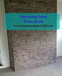 Remove Brick Fireplace by House On Raspberry Hill Removing Paint From Brick Diy And