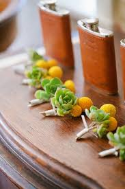 Succulent Boutonniere 42 Creative Ways To Use Succulents In Your Wedding Brit Co