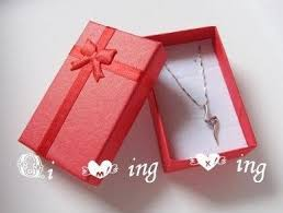 necklace earring gift box images Min order 10 wholesale 12pcs lot red color diy jewelry set JPG