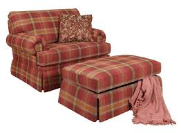 england clare accent chair and skirted ottoman dunk u0026 bright