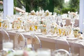 Poolside Table And Chairs Poolside Wedding With Gold Details At Southern California Estate