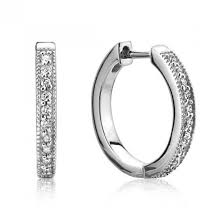 small diamond hoop earrings jude frances 18 karat white gold small diamond hoop earrings