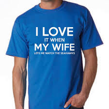 football t shirt i love it when my wife from teeituptees sports