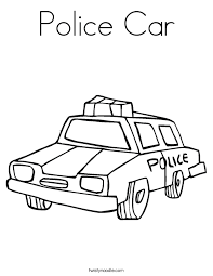 police car coloring twisty noodle