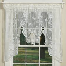 elegant country style curtains in floral lace sturbridge yankee