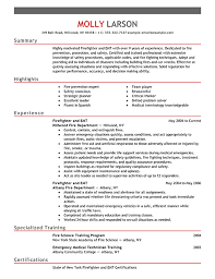 firefighter resume templates firefighter resume exles emergency services sle resumes