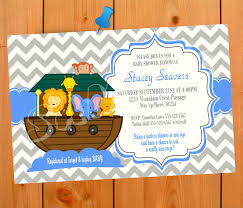 noah u0027s ark baby shower invitation boy boy baby