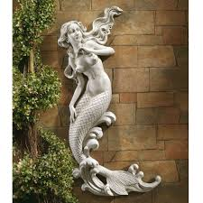Lighthouse Cove Wall Mural Decor Place Wall Murals Outdoor Patio Wall Decor Mermaid Wall Mounted Garden Statue