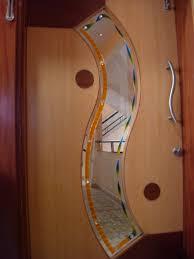 Unique Front Doors Exterior Design Endearing Spiral Glazed Glass Lite Oak Front Door