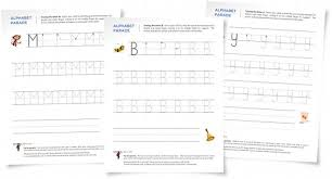new worksheets tracing letters