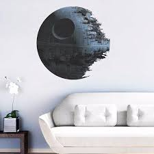 45cm removable death star wars wall stickers art vinyl decal kids death star wars wall stickers